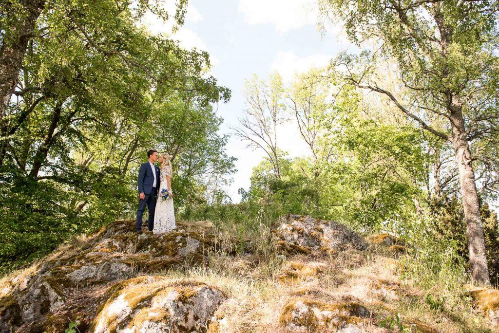 Swedish Wedding - Kroksta Gard Wedding - Couples Portrait Woodland Swedish Wedding
