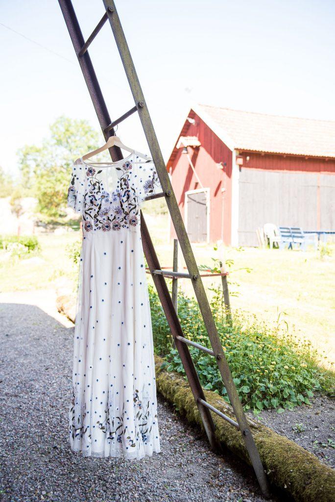 Swedish Wedding - Kroksta Gard Wedding - French Connection Wedding Dress