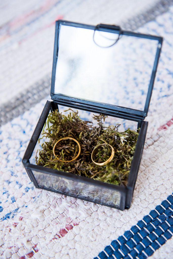 Swedish Wedding - Kroksta Gard Wedding - Boho Wedding Ring Display