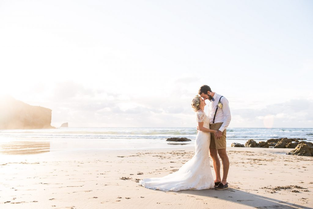 Relaxed Wedding Photography - Cornwall Beach Wedding