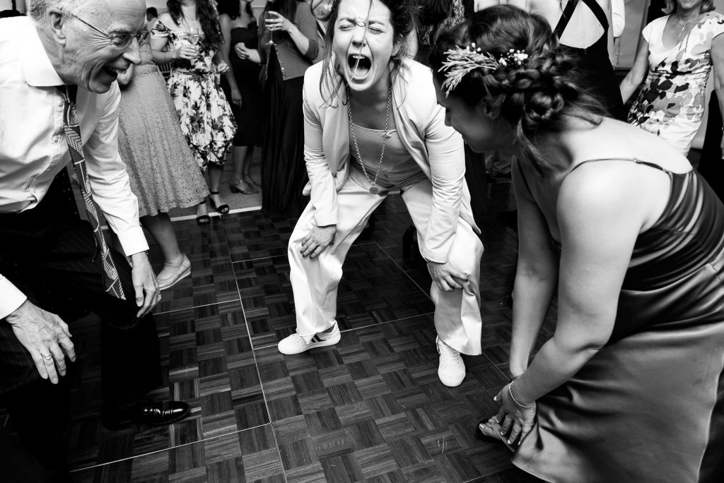 Wedding Day Timeline - Exciting and Funny Dance Floor Photography - Outdoor Surrey Wedding