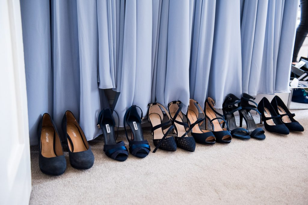 Wedding Day Timeline - Baby Blue Bridesmaids Shoes and Dresses - Outdoor Surrey Wedding