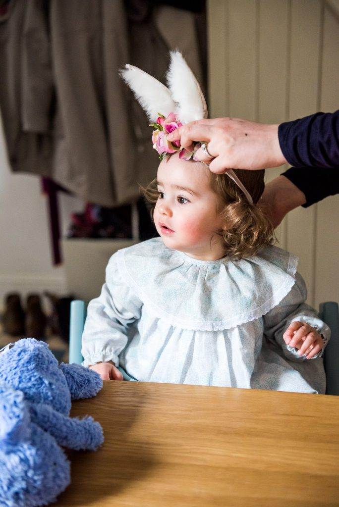 Surrey Family Photography, Family photographer, Gorgeous little girl with bunny ears
