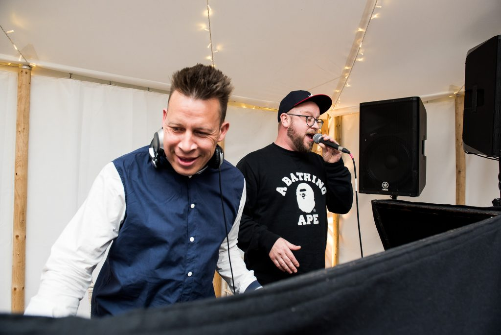 Outdoor Wedding Ceremony, Surrey Wedding Photography, Smoove and Turrell DJ Perform a Wedding Entertainment Set