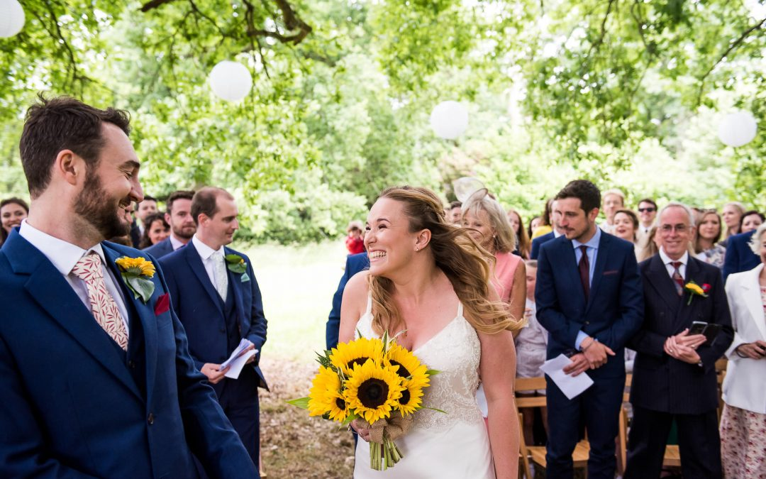 Surrey Wedding Photography – Relaxed Outdoor Wedding Ceremony