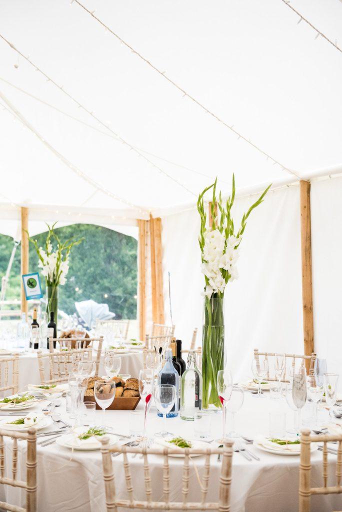 Back Garden Wedding Marquee Decoration