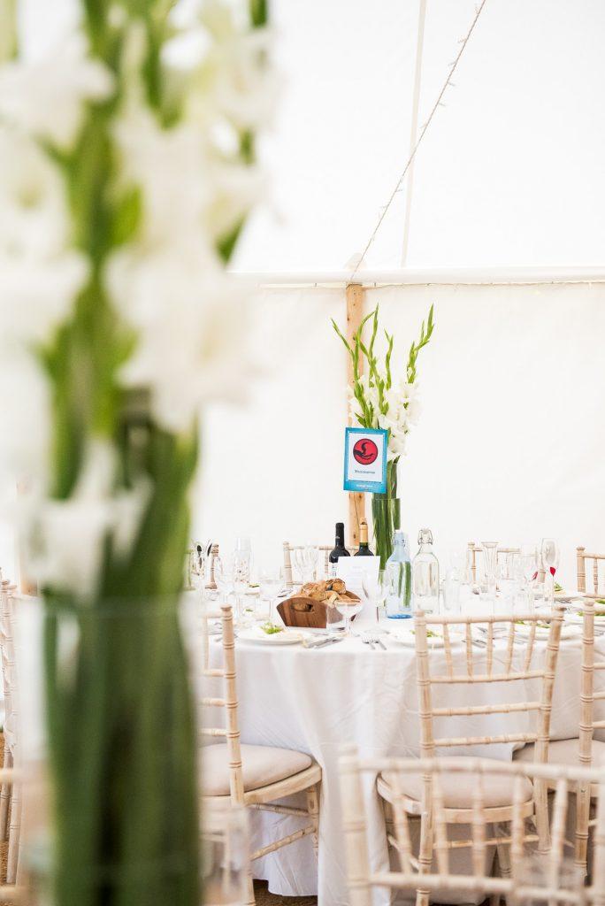 Back Garden Wedding Marquee Decoration, Surrey Outdoor Wedding