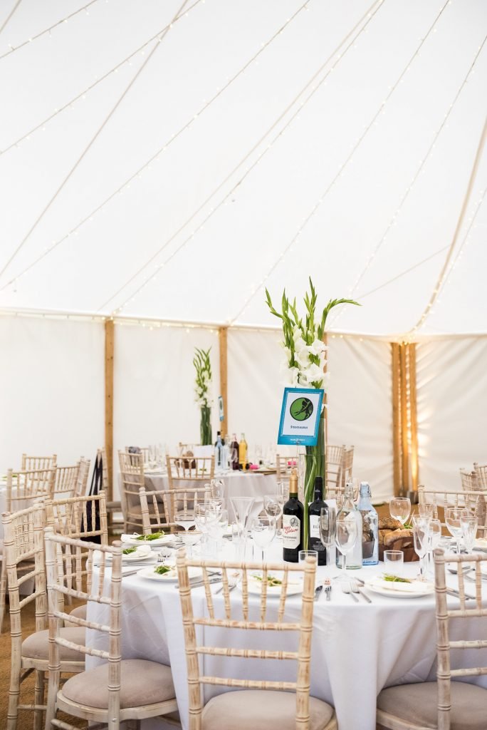 Outdoor Wedding Ceremony, Surrey Wedding Photography, Wedding Place Setting With Jurassic Park Themed Table Names