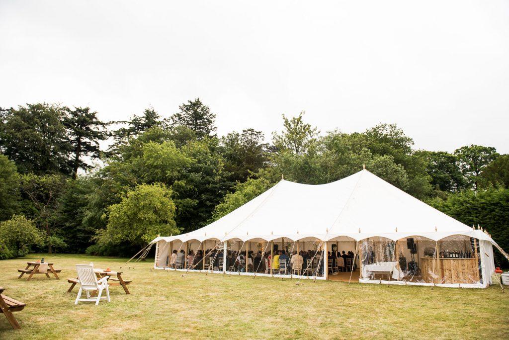 White Garden Marquee Wedding Reception