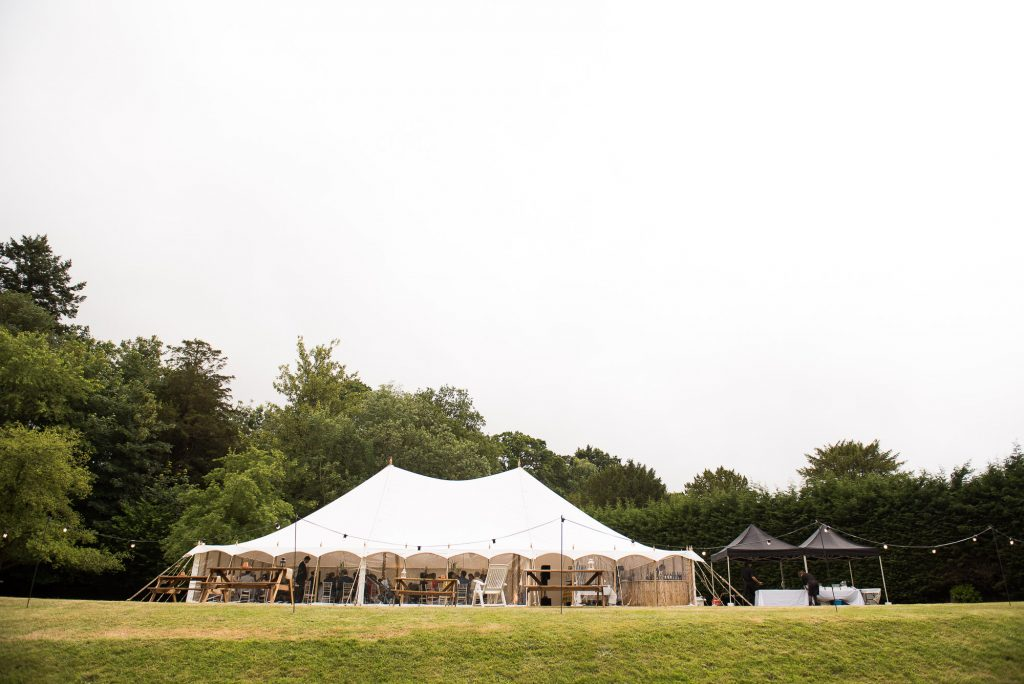 White Marquee Outdoor wedding