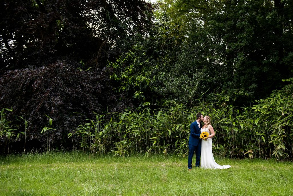 Natural Wedding Photographs With Bamboo Forest Backdrop