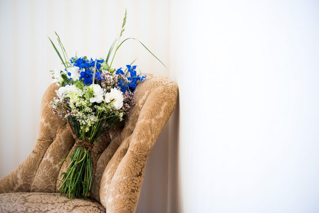 LGBT wedding photography, Swedish destination wedding with wildflower wedding bouquet
