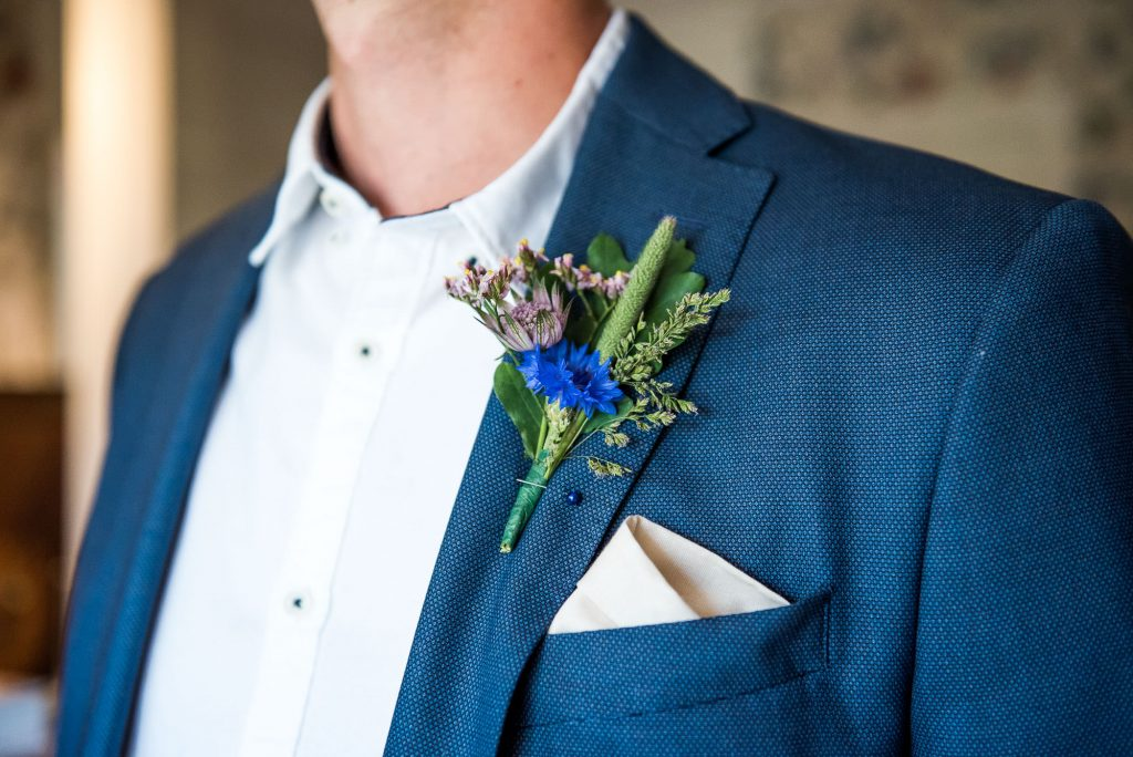 LGBT wedding photography, wildflower home made button hole