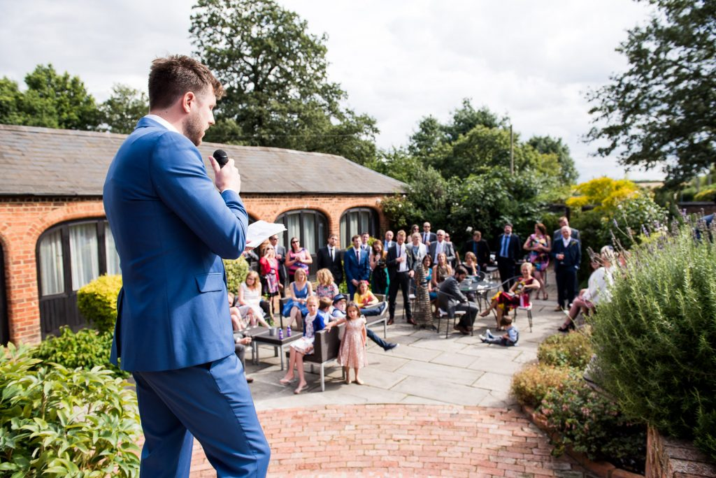 Outdoor speeches at Dodmoor House © Jessica Grace Photography