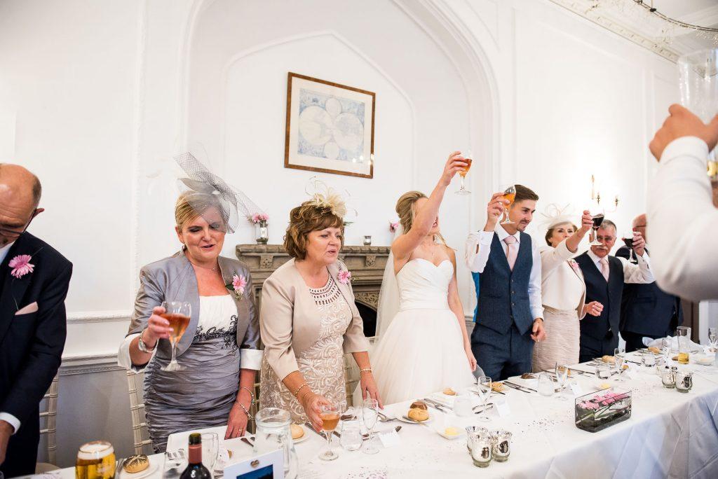 wedding top table cheers
