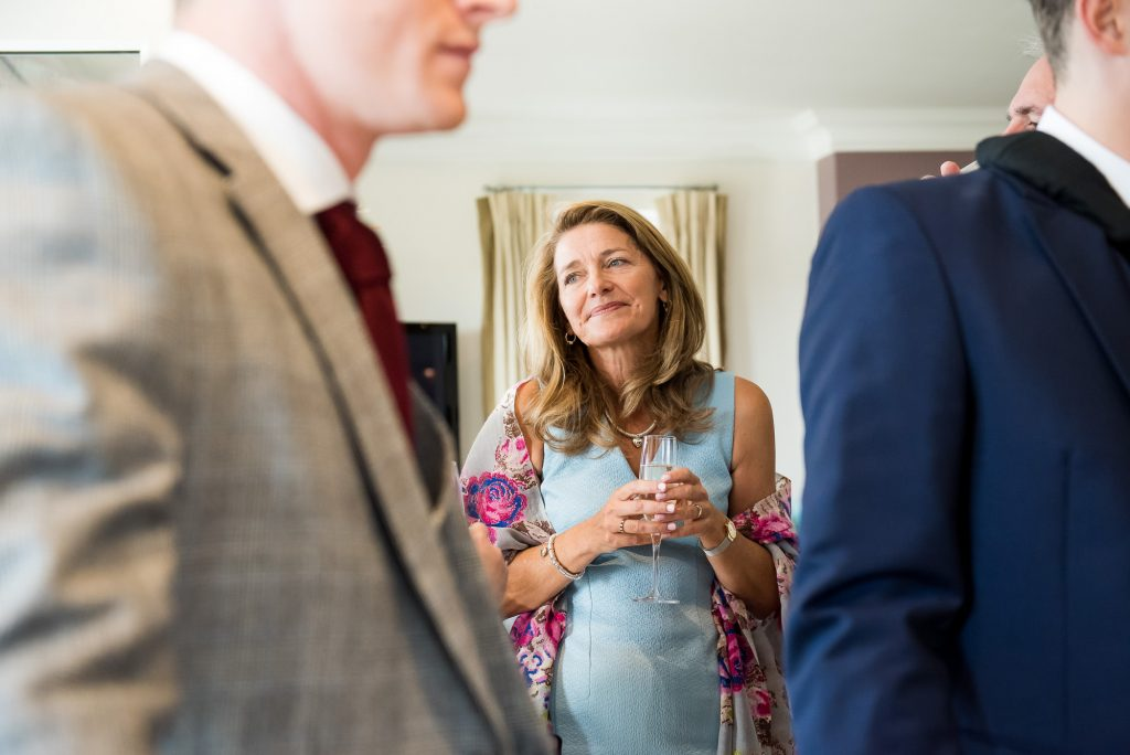 Candid documentary wedding guest photography