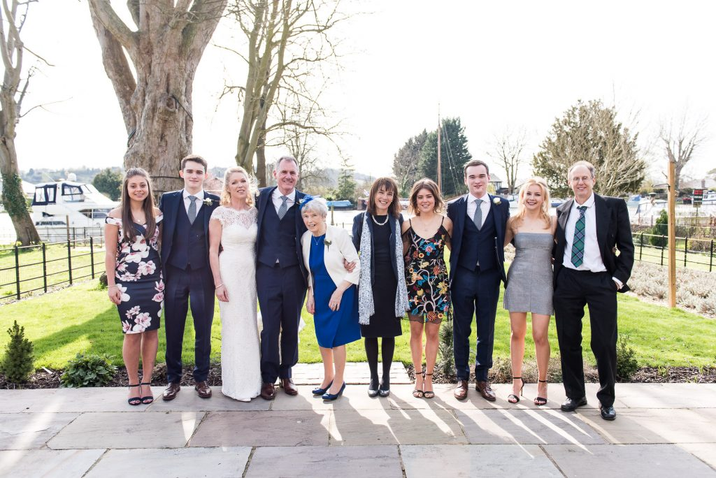 relaxed wedding group photography