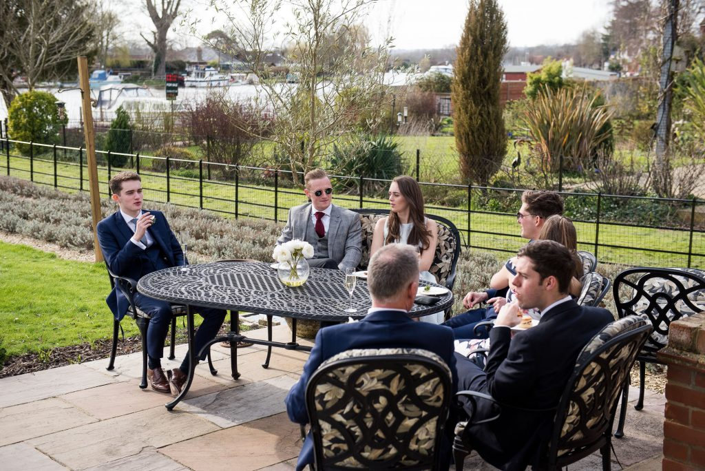 relaxed wedding at a friends house
