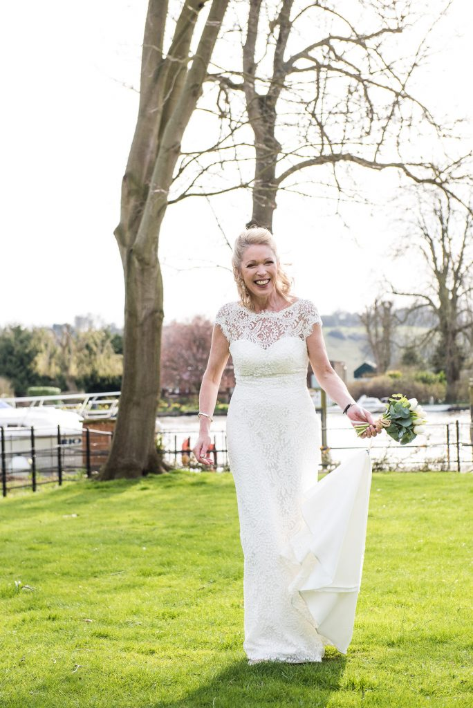 Gorgeous and candid bridal moment