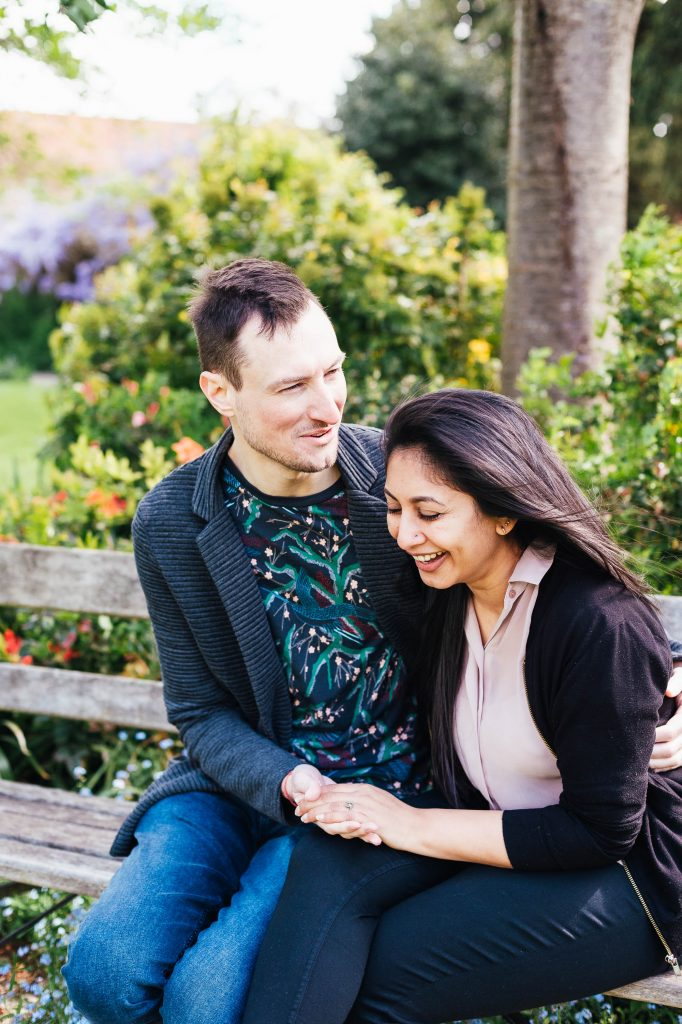 Natural and relaxed engagement photography. London engagement photography.