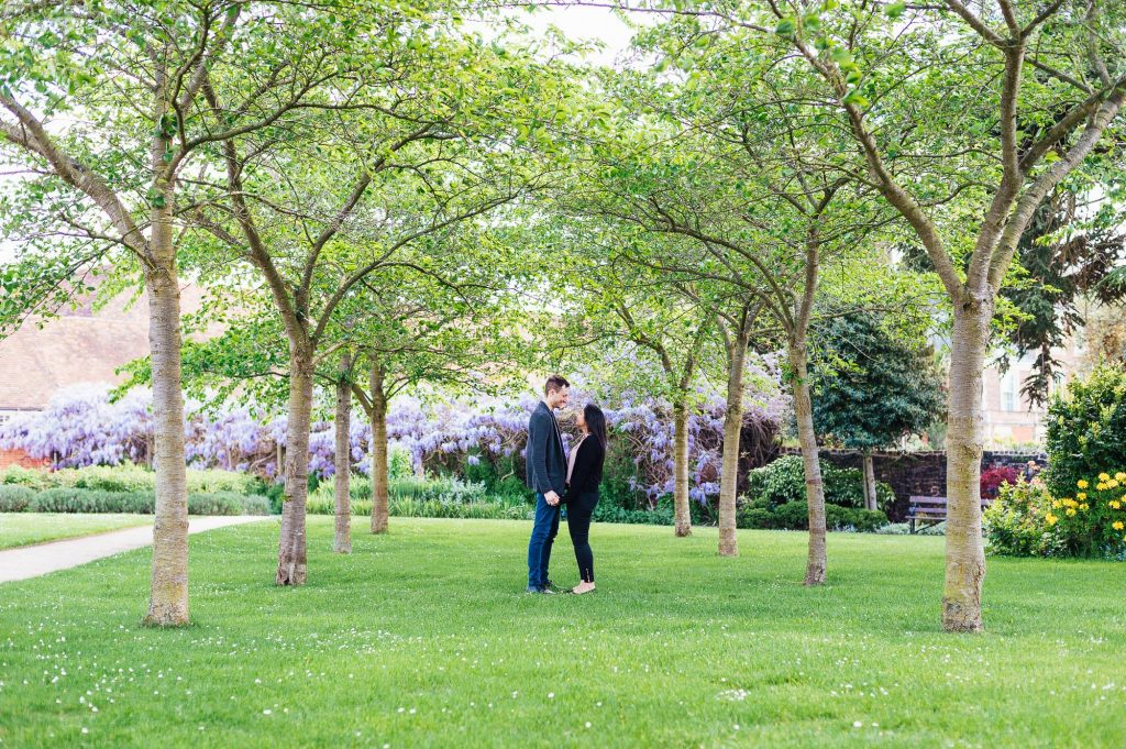 Creative and natural London engagement photography