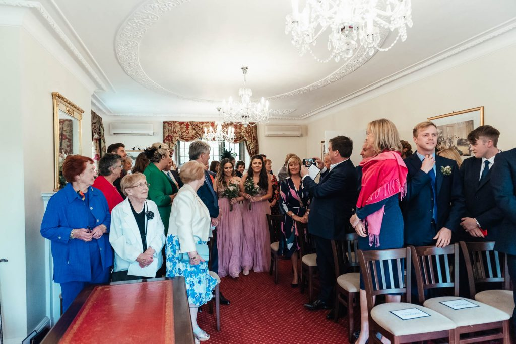Weybridge Registry Office ceremony