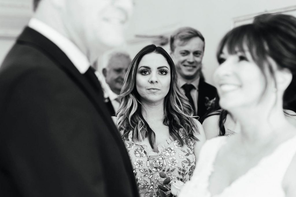 Natural guest reactions during ceremony
