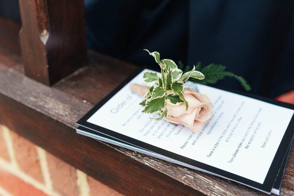 Elegant rose buttonhole