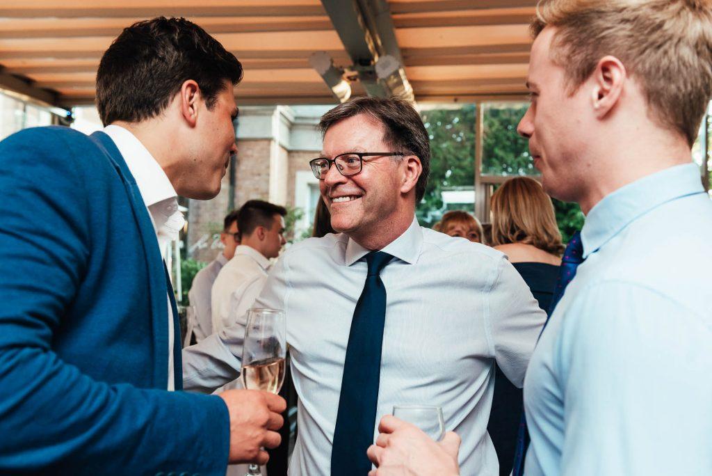 Guests at Oatlands Park wedding reception