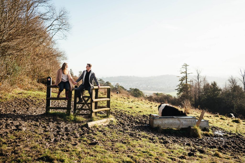 Documentary Style Ranmore Common Engagement Shoot Surrey