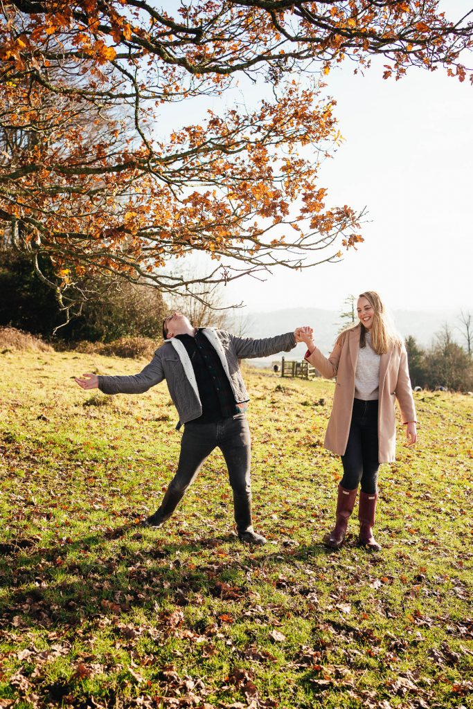 Fun and energetic couples photo shoot