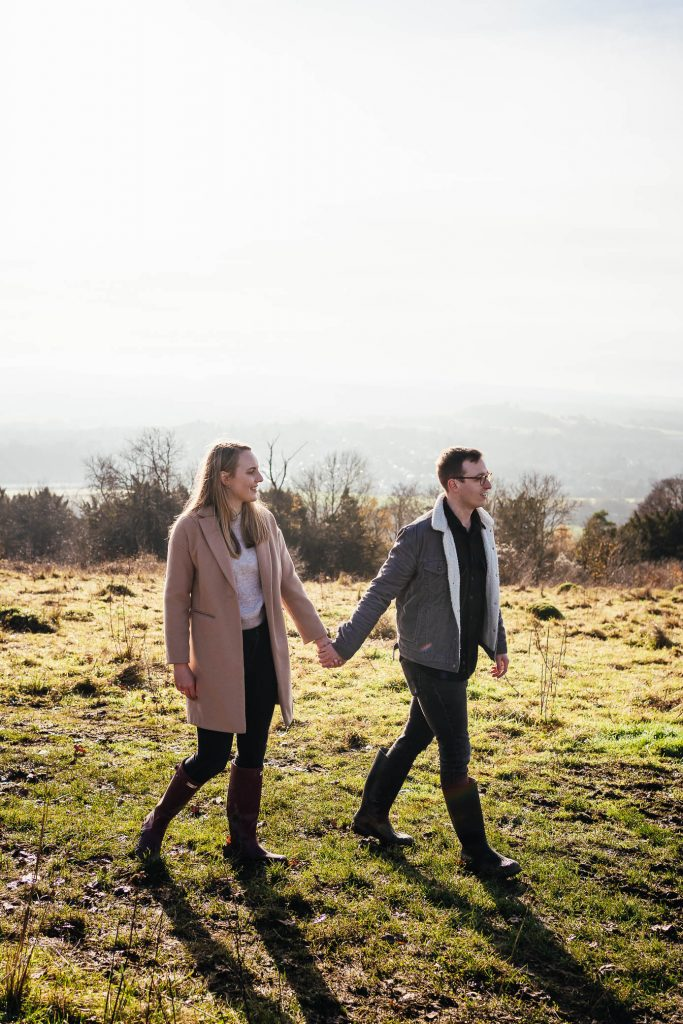 Natural Ranmore Common Engagement Photo Shoot