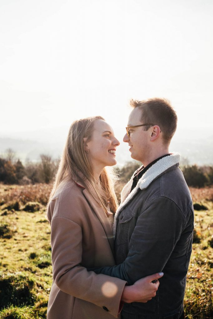 Romantic Ranmore Common Engagement Shoot