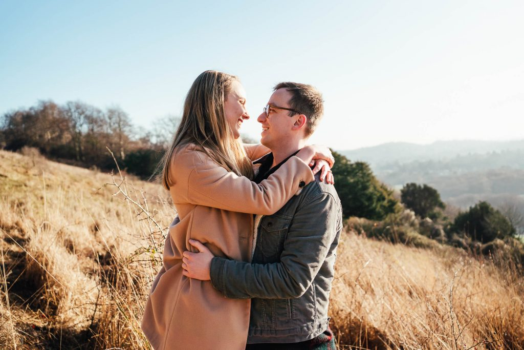 Romantic engagement photography Surrey