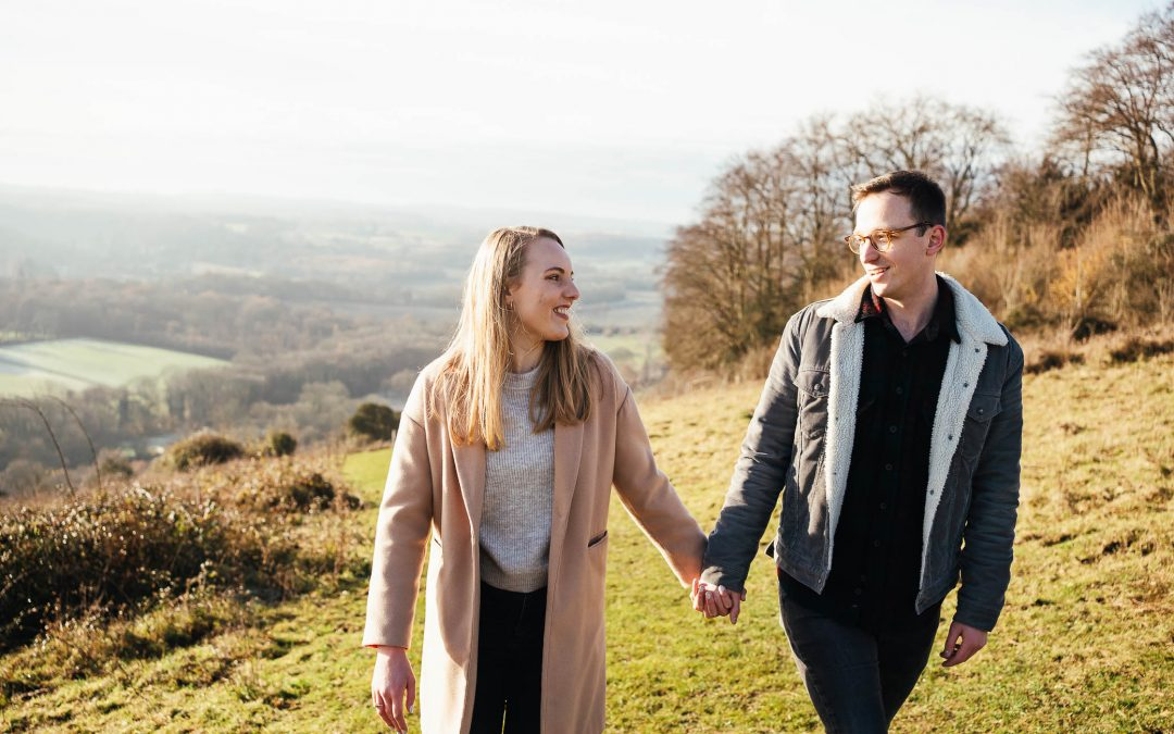 Surrey Engagement Photography – Ranmore Common Engagement Shoot