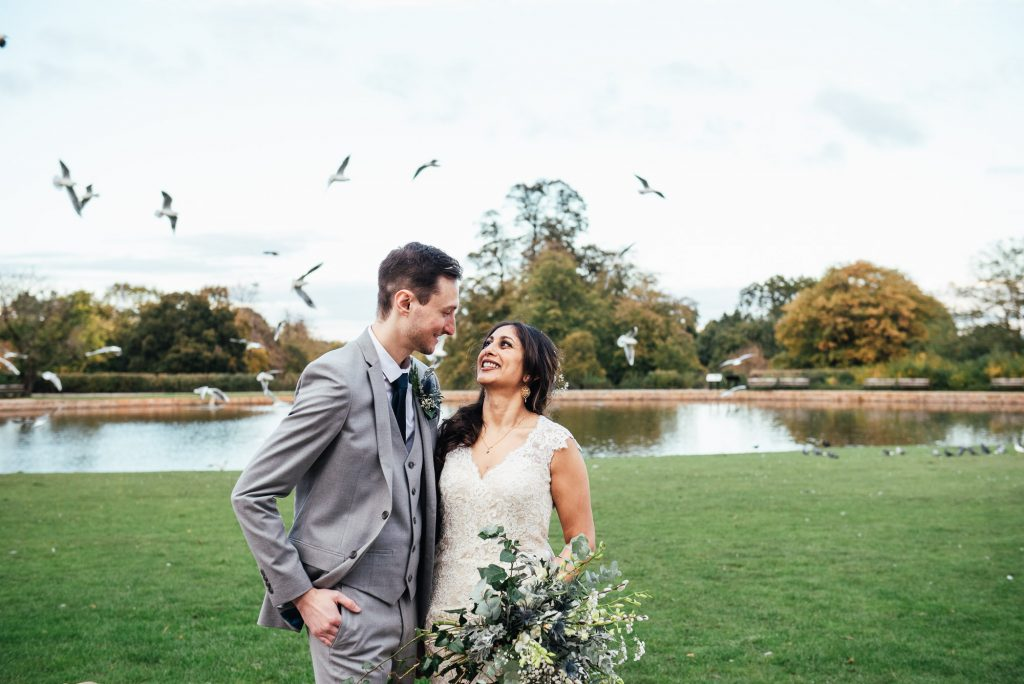 Relaxed Forty Hall wedding photography