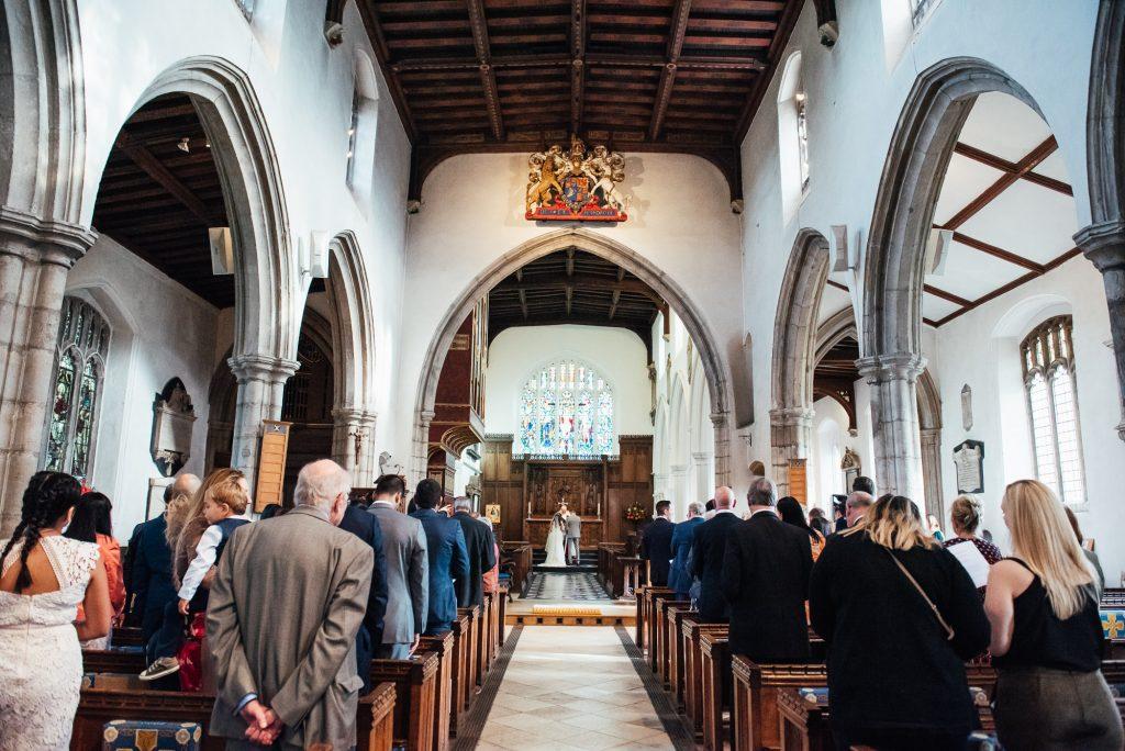 Church wedding ceremony, London wedding photography