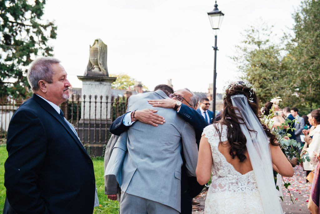 Natural wedding guest photography