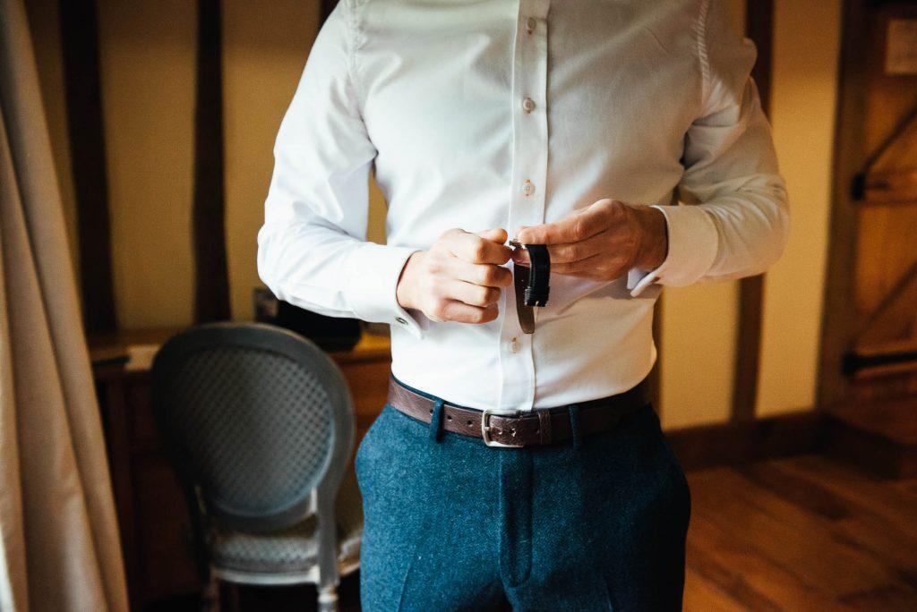 Groom preparation documentary photography