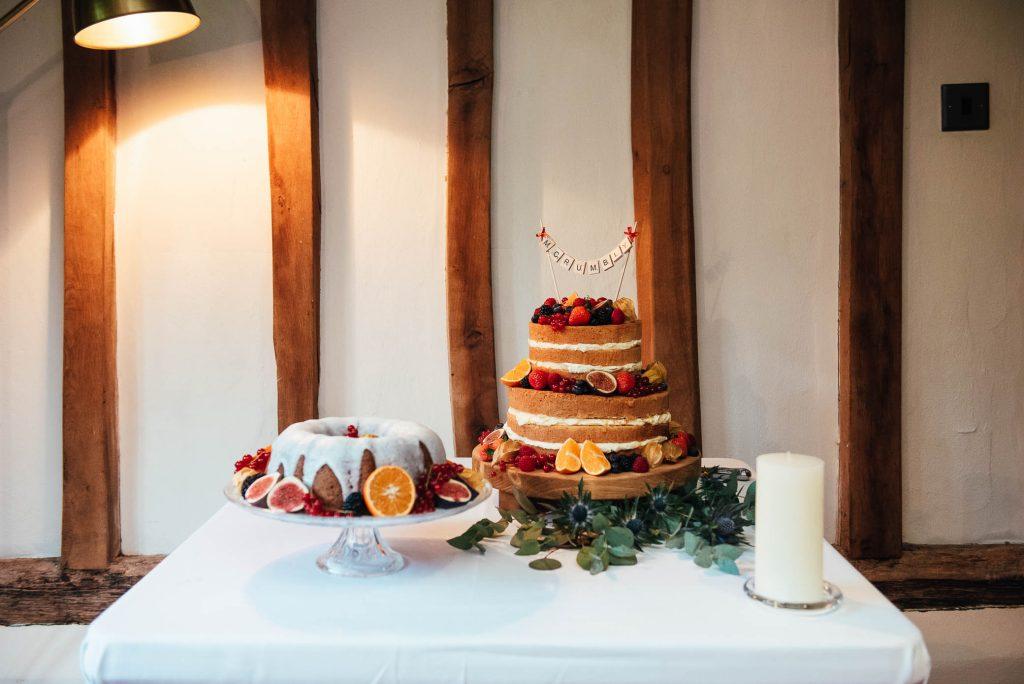 Wedding cakes for Cain Manor wedding