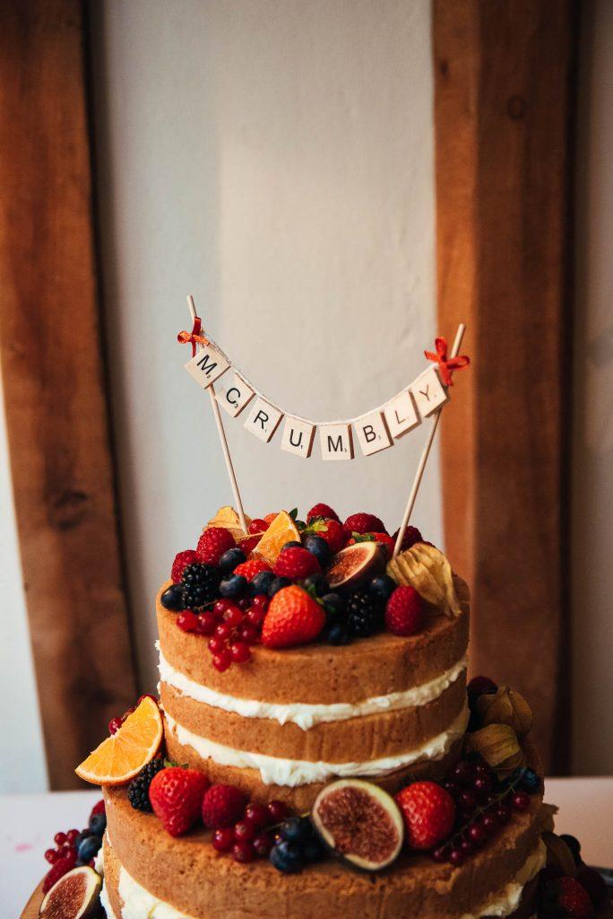 Bespoke wedding cake decoration