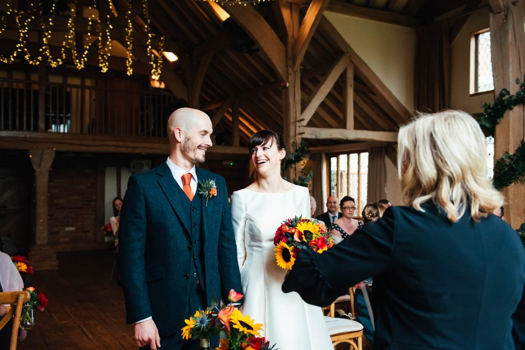 Cain Manor wedding ceremony