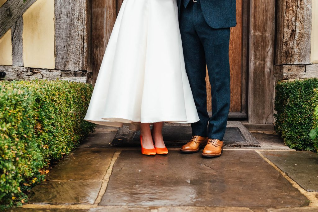 Couples wedding shoes
