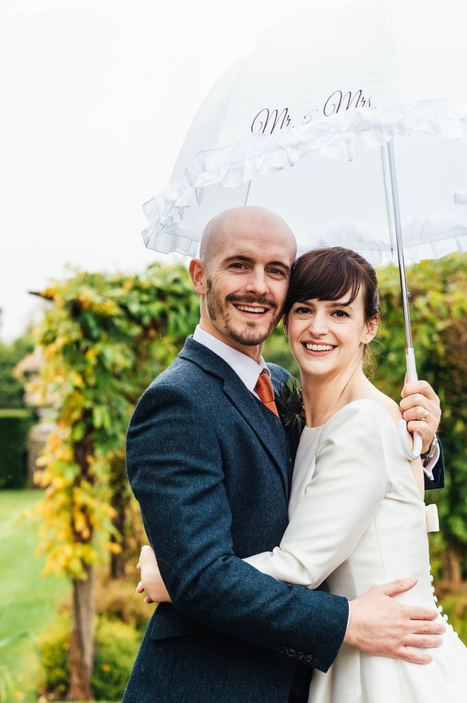 Relaxed wedding portrait