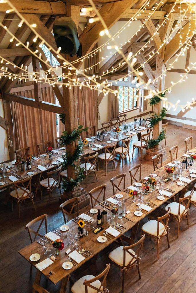 Cain Manor wedding barn hall