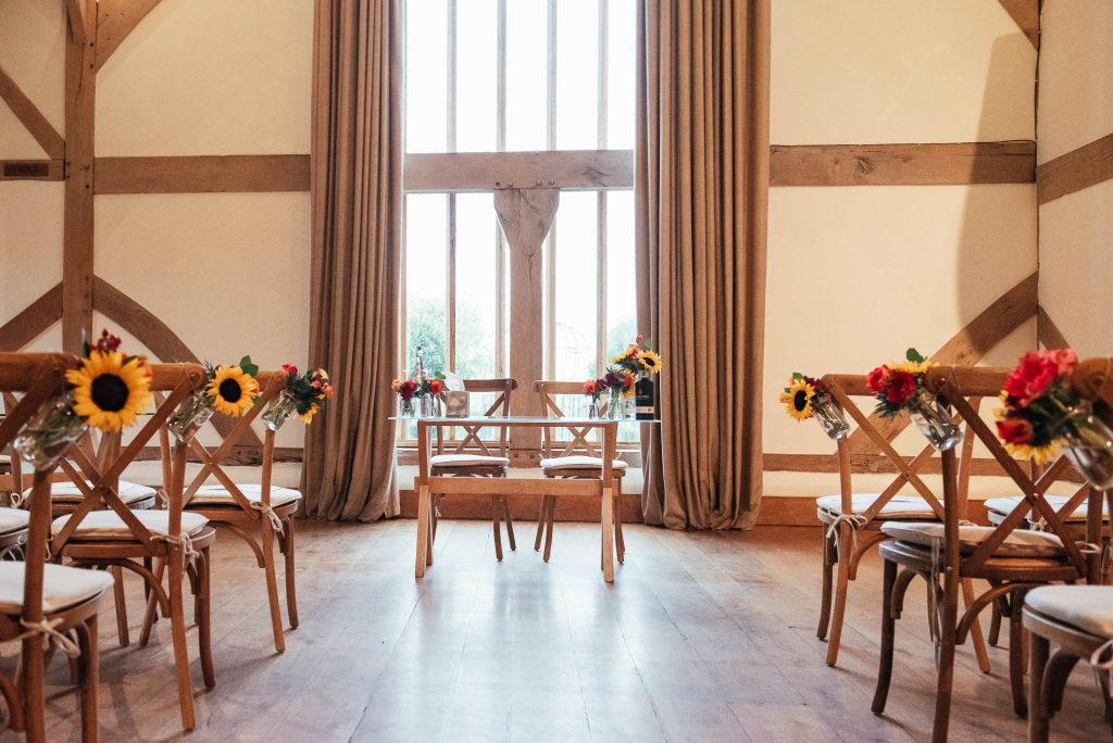 Cain Manor wedding with autumnal theme