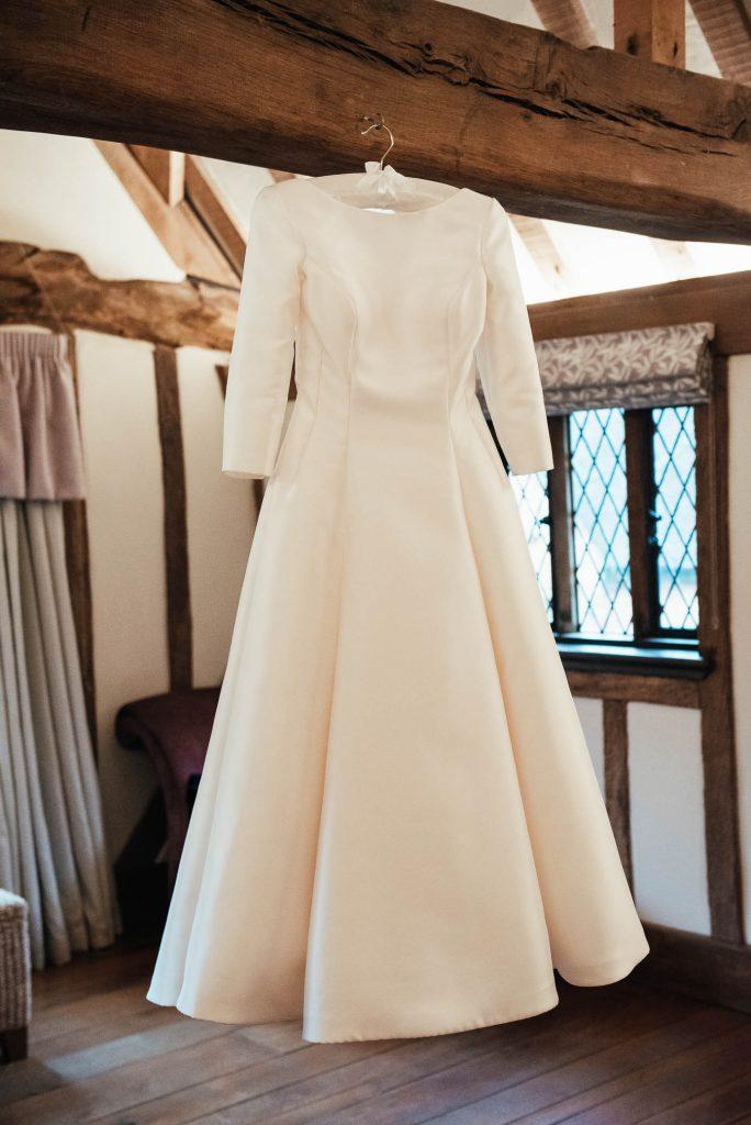 Satin Wedding dress by Louise Bentley