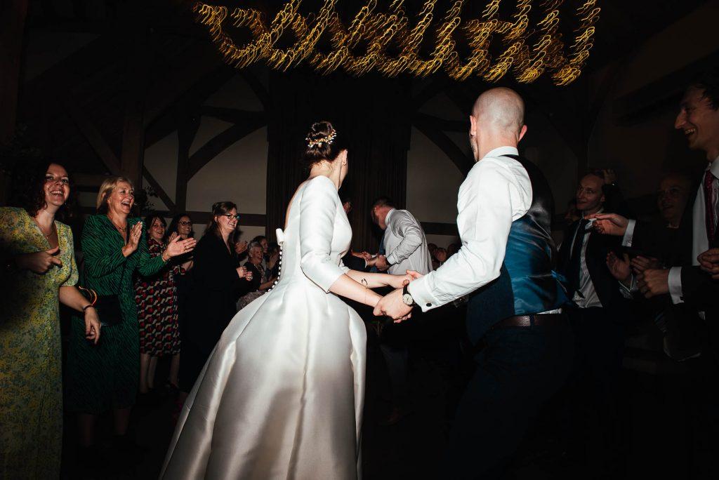 Fun Cain Manor wedding dance floor