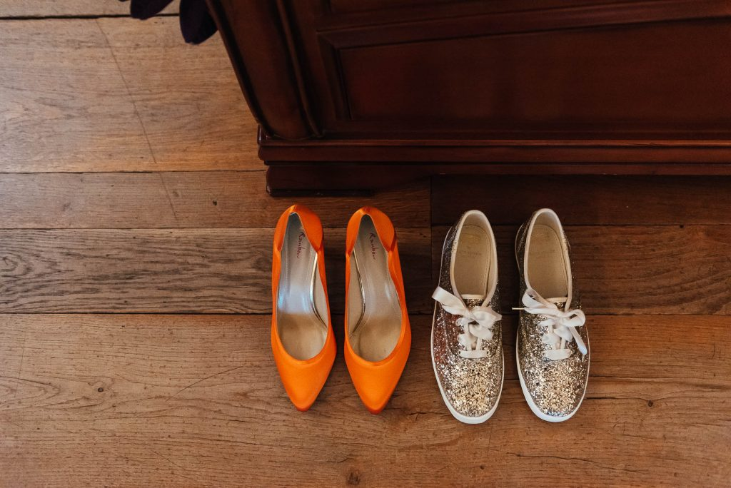 Wedding shoes for relaxed autumnal wedding