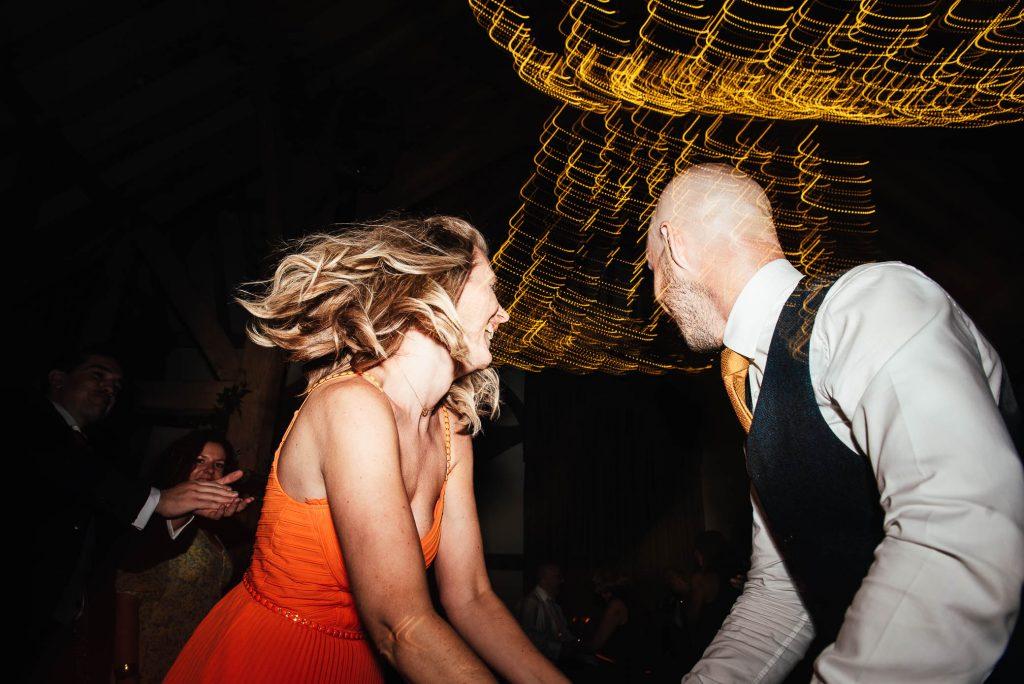 Creative wedding dance floor photography